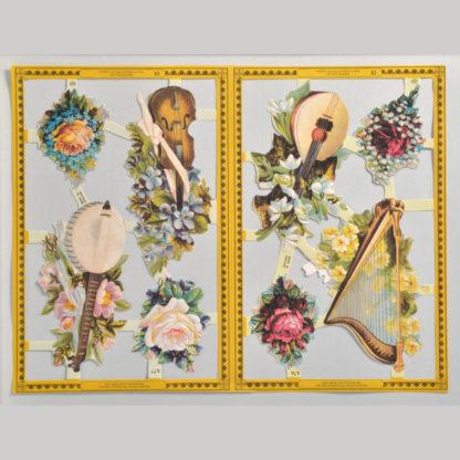 Floral Golden Scrap Sheet