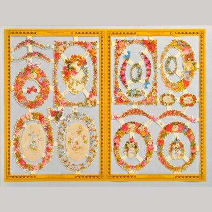 Flower Borders Golden Scrap Sheet 2