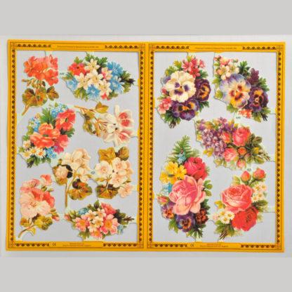 Flowers Golden Scrap Sheet 1