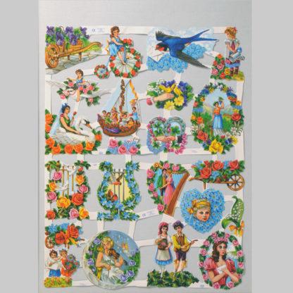 Flowers Scrap Sheet