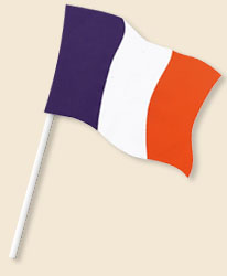 France Handwaving Flags