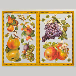 Fruit Golden Scrap Sheet