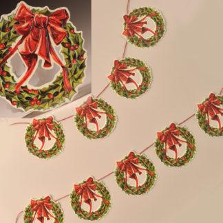 Glittered Garland - Christmas Wreath