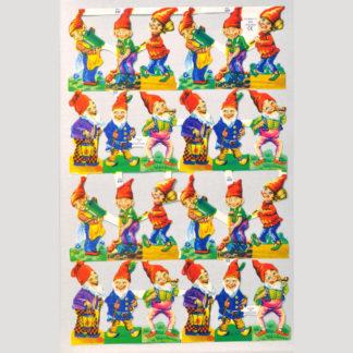 Gnomes Scrap Sheet