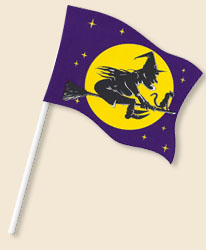 Halloween Witch Handwaving Flags