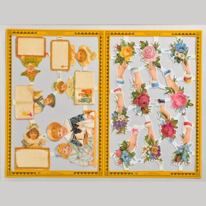 Hands and Children Golden Scrap Sheet