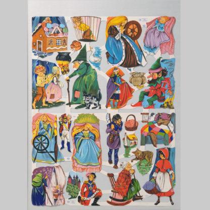 Hansel and Gretel and Rumpelstiltskin Scrap Sheet