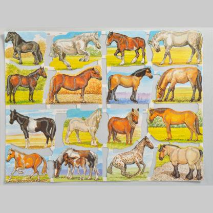 Horses Glittered Scrap Relief