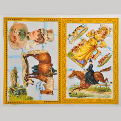 Horses Golden Scrap Sheet