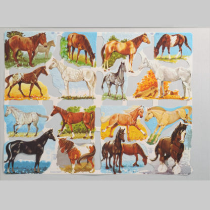 Horses Scrap Sheet 1