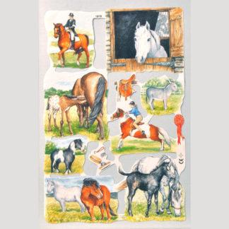 Horses Scrap Sheet 6