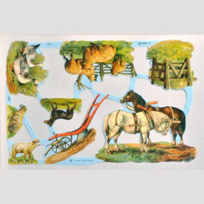 Horses and Farm Animals Scrap Sheet