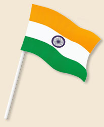 India Handwaving Flags