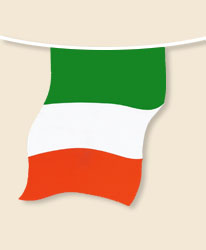 Italy Bunting - large