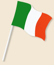 Italy Handwaving Flags
