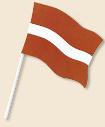 Latvia Handwaving Flags