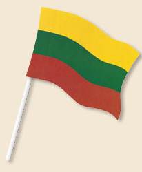 Lithuania Handwaving Flags