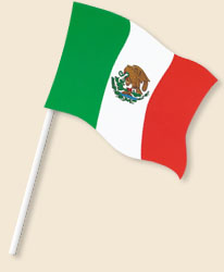 Mexico Handwaving Flags
