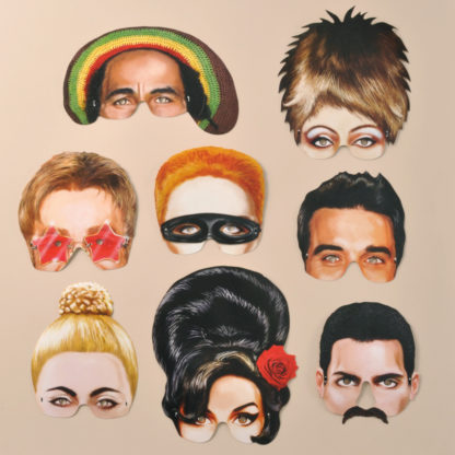 Musical Icons Party Masks