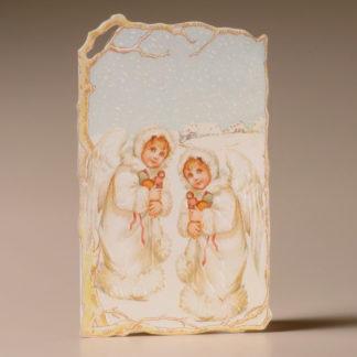 Nostalgic Christmas Card - Child Angels