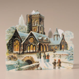 Nostalgic Christmas Card - Church in the Snow