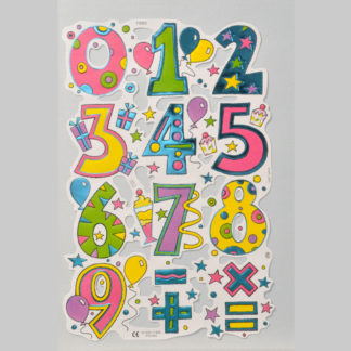Numbers Foiled Scrap Sheet