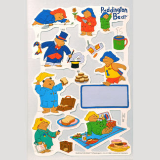 Paddington Bear Scrap Sheet 5
