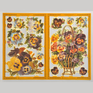 Pansies Golden Scrap Sheet