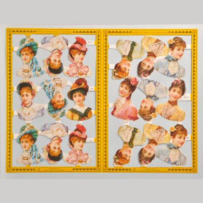 People (Adults) Golden Scrap Sheet 1