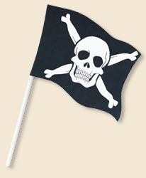 Pirate Skull CrossbonesHandwaving Flags