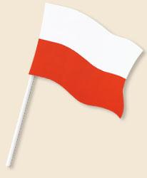 Poland Handwaving Flags