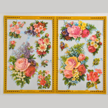 Posies and Flowers Golden Scrap Sheet