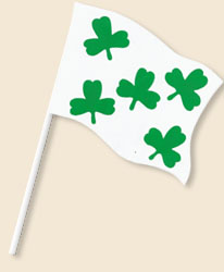 Shamrock Handwaving Flags