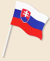 Slovakia Handwaving Flags