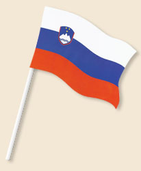 Slovenia Handwaving Flags