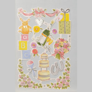 Special Occasions Foiled Scrap Sheet 2