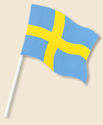 Sweden Handwaving Flags
