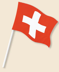 Switzerland Handwaving Flags