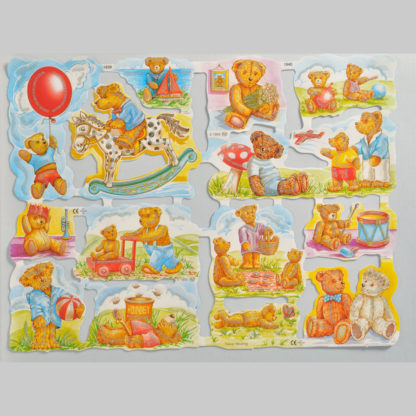 Teddy Bear Glittered Scrap Relief 1