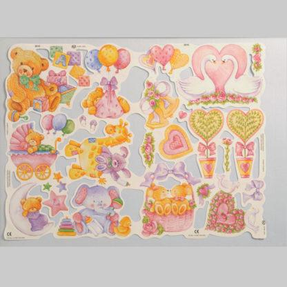 Teddy Bear Scrap Sheet 11
