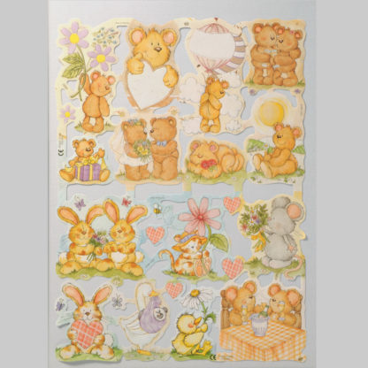 Teddy Bear Scrap Sheet 12