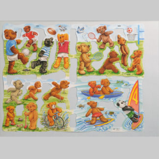 Teddy Bear Scrap Sheet 4
