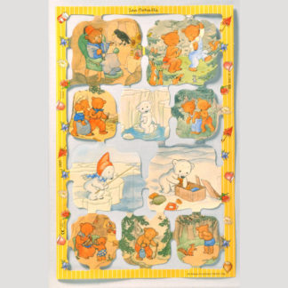 Teddy Bear Scrap Sheet 8