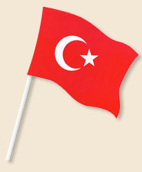 Turkey Handwaving Flags