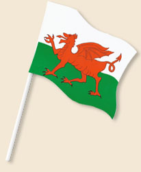 Wales Handwaving Flags