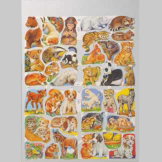 Wild Animals Scrap Sheet 1