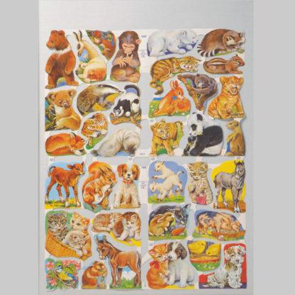 Wild Animals Scrap Sheet 1