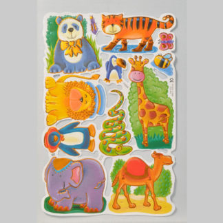Zoo Animals Foiled Scrap Sheet